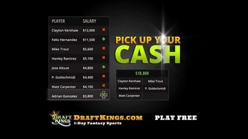 DraftKings TV Spot, 'Millionaire Maker: Step Up to the Plate' - Thumbnail 8
