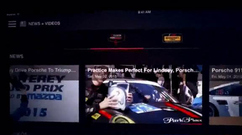 International Motor Sports Association App TV Spot, 'The Latest News' - Thumbnail 3