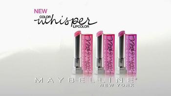 Maybelline New York Color Whisper Lipcolor TV Spot, 'Shhh' - Thumbnail 2