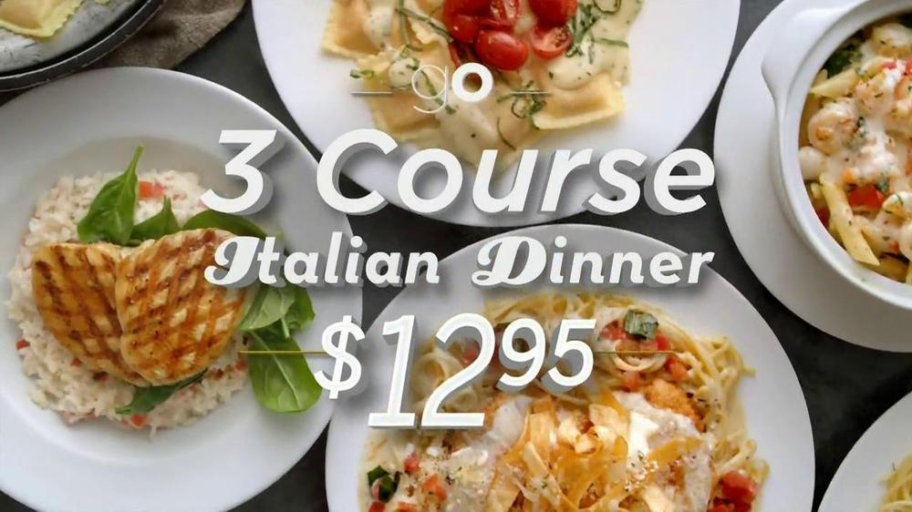 Olive Garden 3 Course Italian Dinner Tv Spot