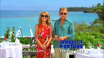 Wheel of Fortune TV Spot, 'Sandals Vacation Sweepstakes' - 17 commercial airings