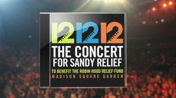 12 12 12 The Concert for Sandy Relief CD TV Spot