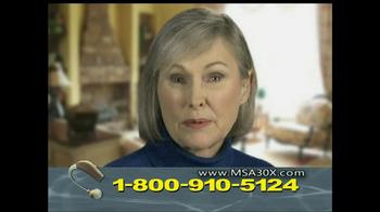 MSA 30X TV Spot