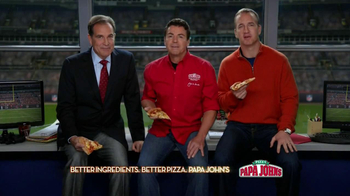 Papa John's Super Bowl XLVII Coin Toss Experience TV Spot Feat. Jim Nantz - 670 commercial airings