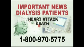 Davis & Crump, P.C. TV Spot, 'Important News: Dialysis Patients' - Thumbnail 1