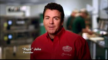 Papa John's Steak & Cheese Pizza TV Spot, 'Better Ingredients' - Thumbnail 1