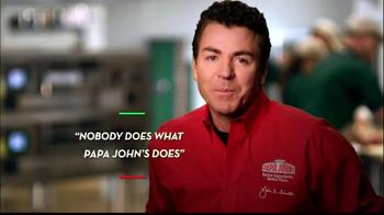 Papa John's Steak & Cheese Pizza TV Spot, 'Better Ingredients' - Thumbnail 3