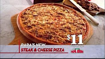 Papa John's Steak & Cheese Pizza TV Spot, 'Better Ingredients' - Thumbnail 4