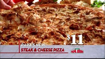 Papa John's Steak & Cheese Pizza TV Spot, 'Better Ingredients' - Thumbnail 5