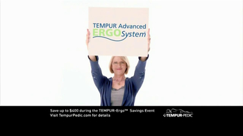 Tempur-Pedic Ergo Savings Event TV Spot