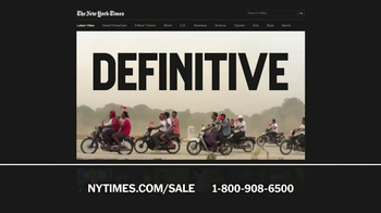 The New York Times Presidents' Day Sale TV Spot