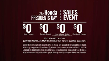 Honda Presidents Day Sales Event TV Spot, 'R&B Presidents' - Thumbnail 10