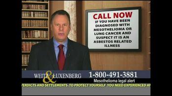 Weitz and Luxenberg TV Spot, 'Medical Alert: Mesothelioma'