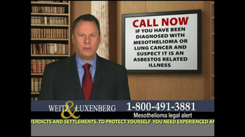 Weitz and Luxenberg TV Spot, 'Medical Alert: Mesothelioma'