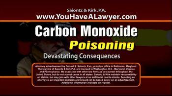 Saiontz & Kirk, P.A. TV Spot, 'Carbon Monoxide Exposure'