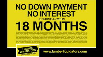 Lumber Liquidators Hardwood Flooring Sale TV Spot  - Thumbnail 5