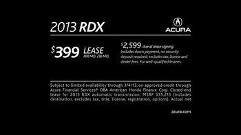 2013 Acura RDX TV Spot, 'ALG Evaluation' - Thumbnail 10