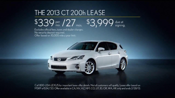 2013 Lexus CT 200h TV Spot, 'Hybrid DNA' - Thumbnail 8