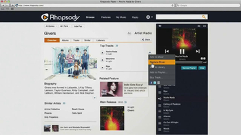 Rhapsody TV Spot, 'House Party' Song by Givers - Thumbnail 2