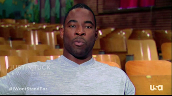 USA Network TV Spot, 'Won't Stand For' Featuring Justin Tuck - 14 commercial airings
