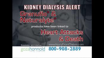 Goza Honnold Trial Lawyers TV Spot, 'Kidney Dialysis Alert' - Thumbnail 1