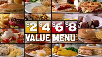 Denny's 2, 4, 6, 8,Value Menu TV Spot, 'So Little Time' - Thumbnail 7