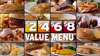 Denny's 2, 4, 6, 8,Value Menu TV Spot, 'So Little Time' - Thumbnail 8