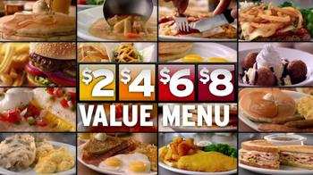 Denny's 2, 4, 6, 8,Value Menu TV Spot, 'So Little Time' - Thumbnail 9