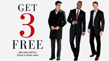 JoS. A. Bank TV Spot, Feb. 2013: Buy 1, Get 3 Free' - 35 commercial airings