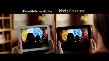 Amazon Kindle Fire HD TV Spot, 'iPad with Retina Display Comparison'