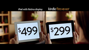 Amazon Kindle Fire HD TV Spot, 'iPad with Retina Display Comparison' - Thumbnail 7