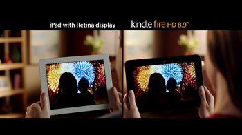 Amazon Kindle Fire HD TV Spot, 'iPad with Retina Display Comparison'