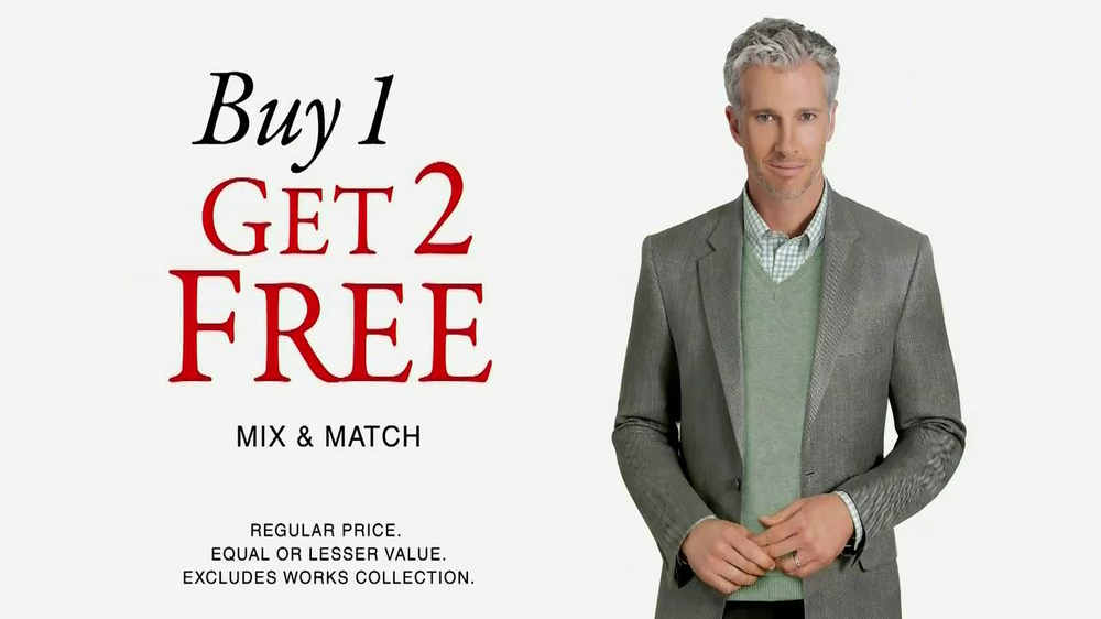 JoS. A. Bank TV Commercial 'Buy 1, Get 2 Free Mix and Match'