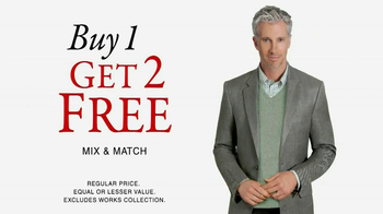 JoS. A. Bank TV Spot 'Buy 1, Get 2 Free Mix and Match' - 67 commercial airings