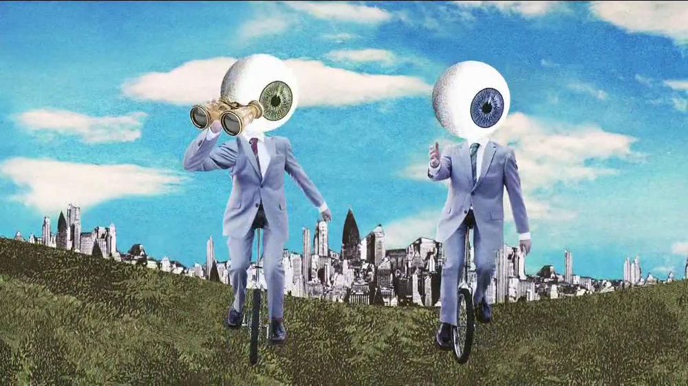Warby Parker TV Commercial, 'Eyesballs on Bikes'
