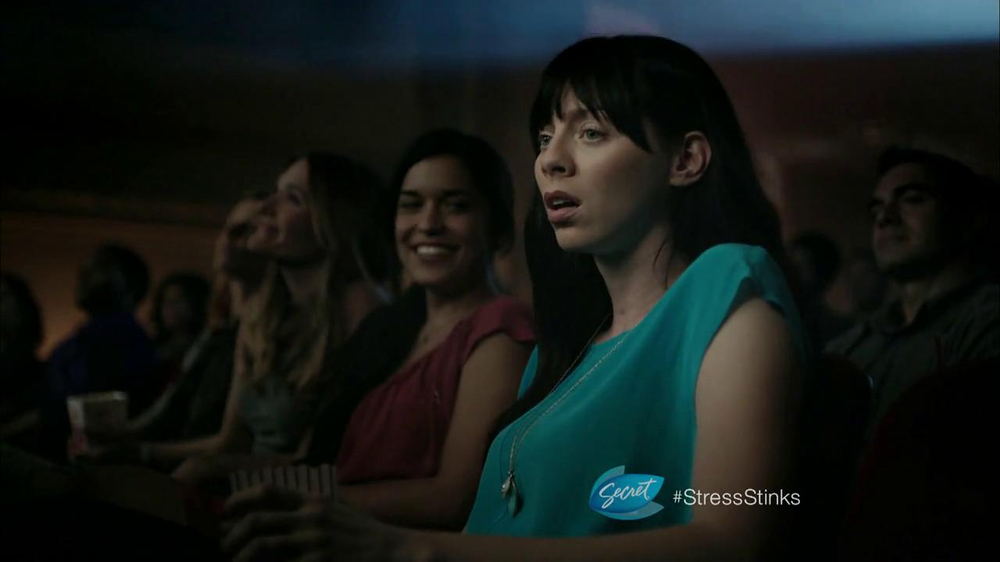 Secret Clinical Strength TV Commercial, 'Stress Sweat: Movie Theater'