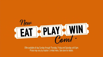 Dave and Buster's Eat, Play, Win Combo TV Spot