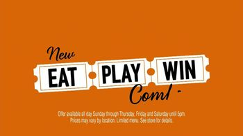 Dave and Buster\'s Eat, Play, Win Combo TV Spot