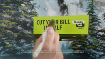 Straight Talk Wireless TV Spot, 'Painting' Featuring Bob Ross - Thumbnail 5