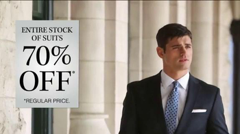 JoS. A. Bank 70% Off Entire Stock of Suits TV Spot, 'No Exceptions' - Thumbnail 3