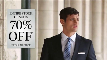 JoS. A. Bank 70% Off Entire Stock of Suits TV Spot, 'No Exceptions'