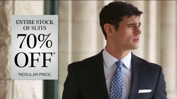 JoS. A. Bank 70% Off Entire Stock of Suits TV Spot, 'No Exceptions' - Thumbnail 5