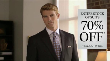 JoS. A. Bank 70% Off Entire Stock of Suits TV Spot, 'No Exceptions' - Thumbnail 6