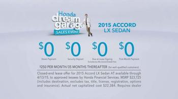 Honda Dream Garage Sales Event: 2015 Honda Accord LX TV Spot, 'Trimmers' - Thumbnail 8