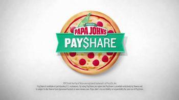 Papa John's Pay$hare TV Spot, 'Split the Check' - 1035 commercial airings