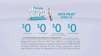 Honda Dream Garage Sales Event: 2015 Pilot 2WD LX TV Spot, 'Dream Deals' - Thumbnail 9