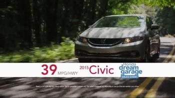 Honda Dream Garage Sales Event TV Spot, 'Our Latest Innovation: 2015 Civic' - Thumbnail 8