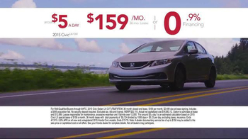 Honda Dream Garage Sales Event TV Spot, 'Our Latest Innovation: 2015 Civic' - Thumbnail 5