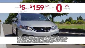 Honda Dream Garage Sales Event TV Spot, 'Our Latest Innovation: 2015 Civic' - Thumbnail 6