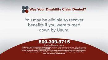 Sokolove Law TV Spot, 'Disability Claim Denied'